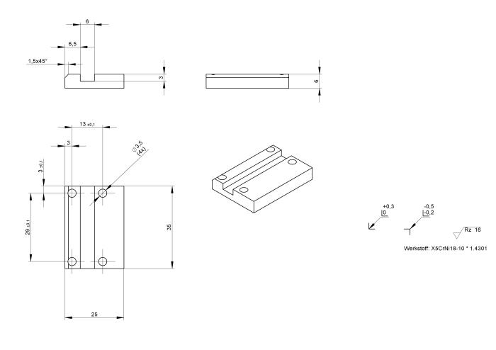 Adapterplatte Hülsenfänger