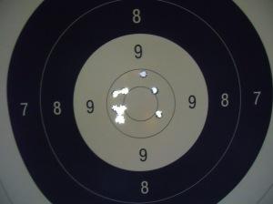 Schussbild Hera Arms 100m 2.1