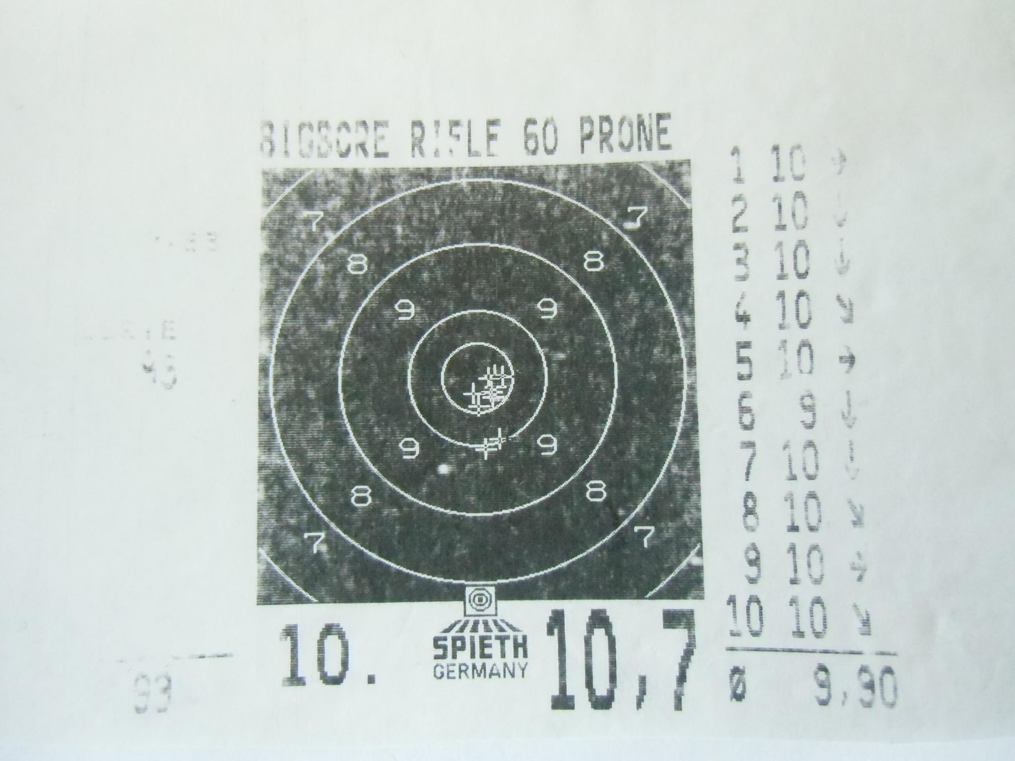 Schussbild Savage 10 BA 2