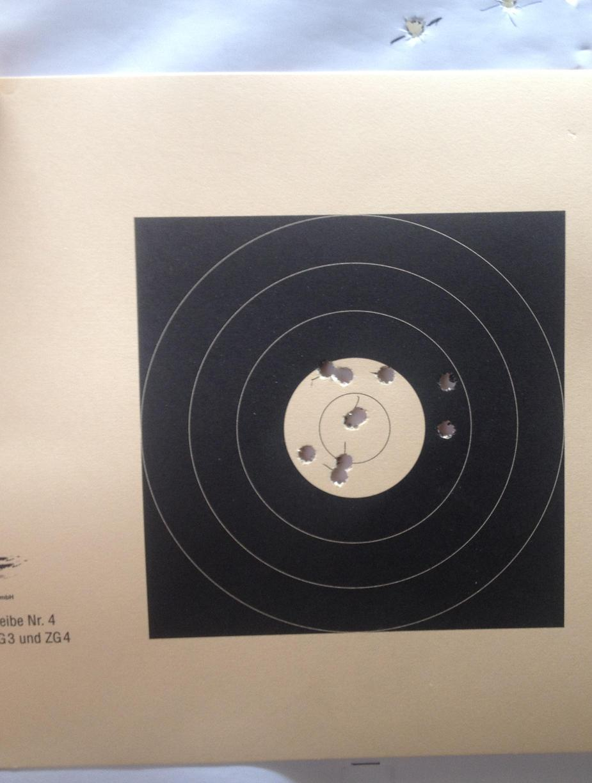 Schussbild Savage 10 BA 3